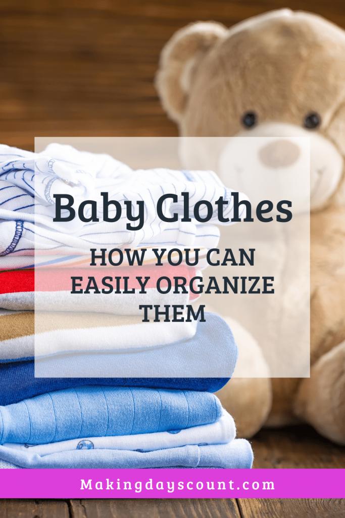 organize baby clothes MDC